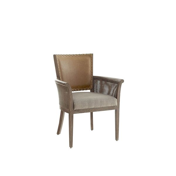 Wisteria Rustic Stitched-Back Armchair
