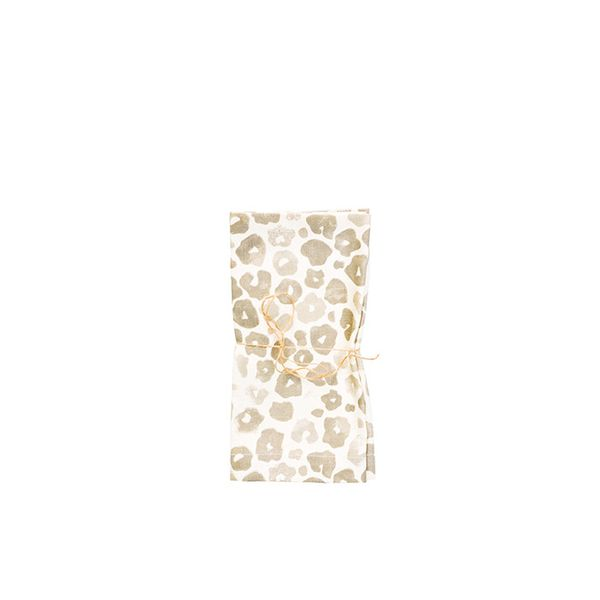 Leif Washed Leopard Print Napkin Set