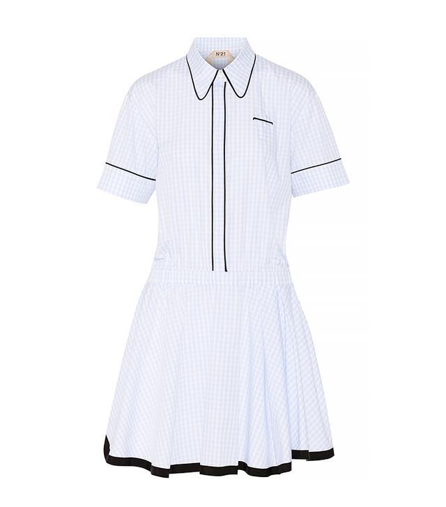 no. 21 Gingham Cotton Minidress