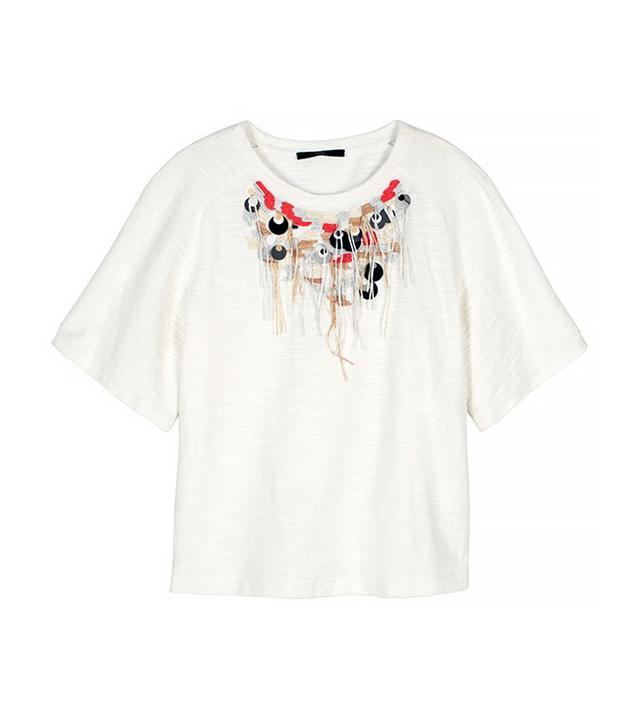 Tibi Thread Fringe Necklace Top