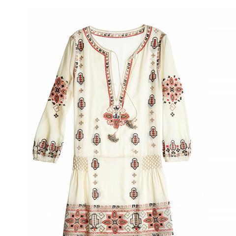 Embroidered Drop Waist Dress
