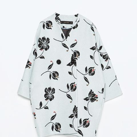 Jacquard Floral Coat