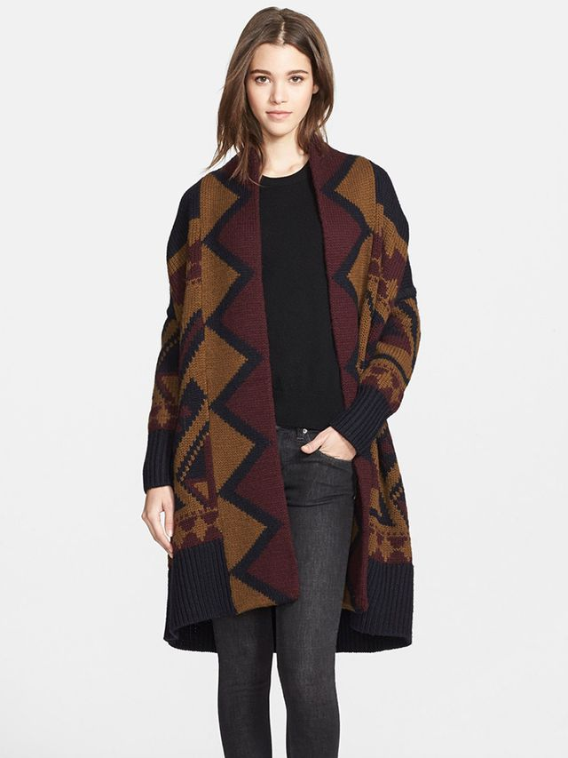 Burberry Brit Geo Print Wool Sweater
