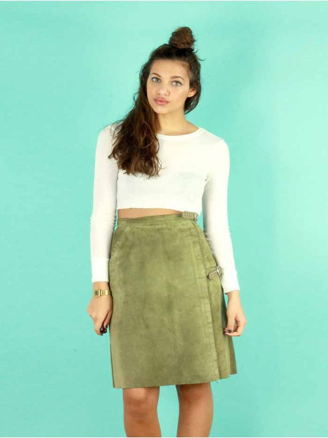 ASOS Marketplace Suede Skirt