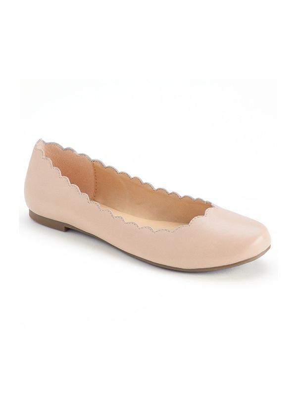 LC Lauren Conrad Scalloped Ballet Flats