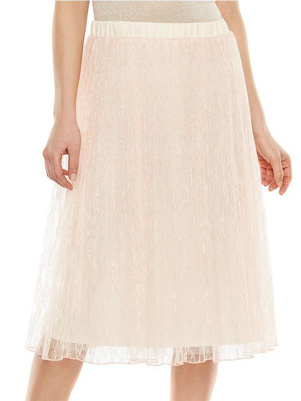 LC Lauren Conrad Lace Midi Skirt