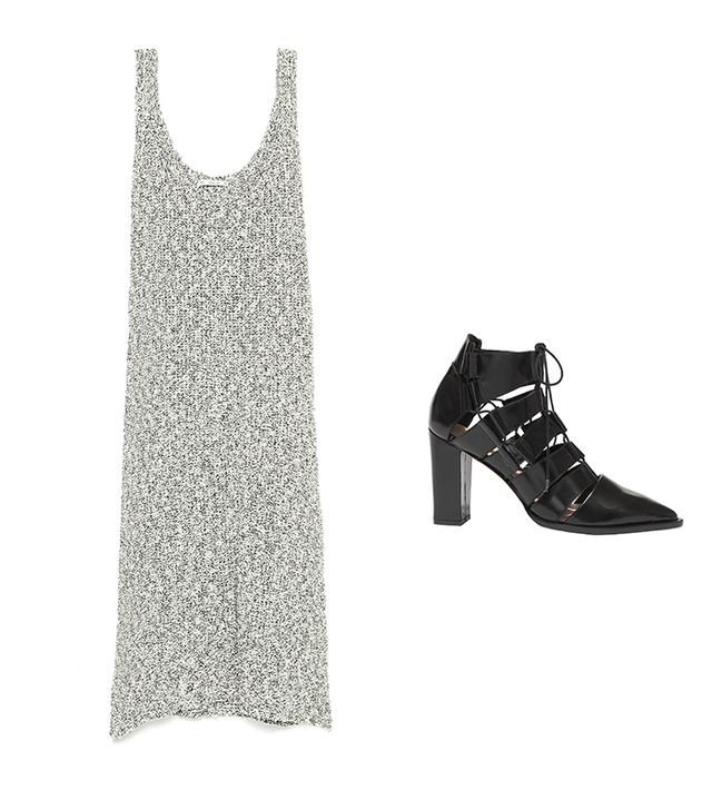 Zara Fancy Knit Sleeveless Dress