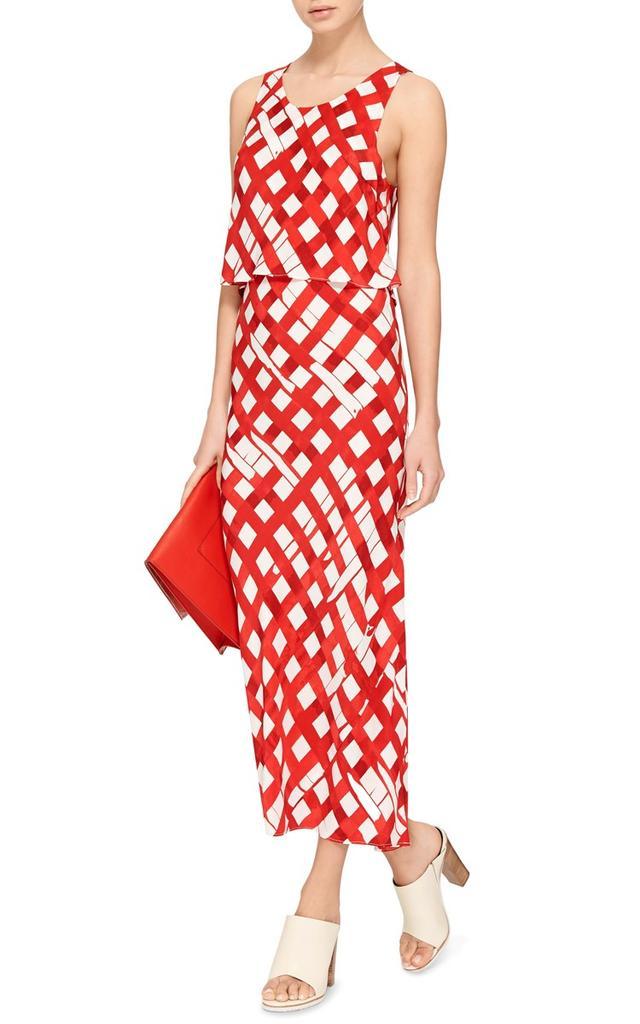 Piamiti Red Tartan Silk Dress
