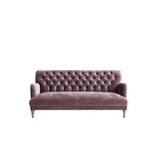 Anthropologie Velvet Orianna Sofa