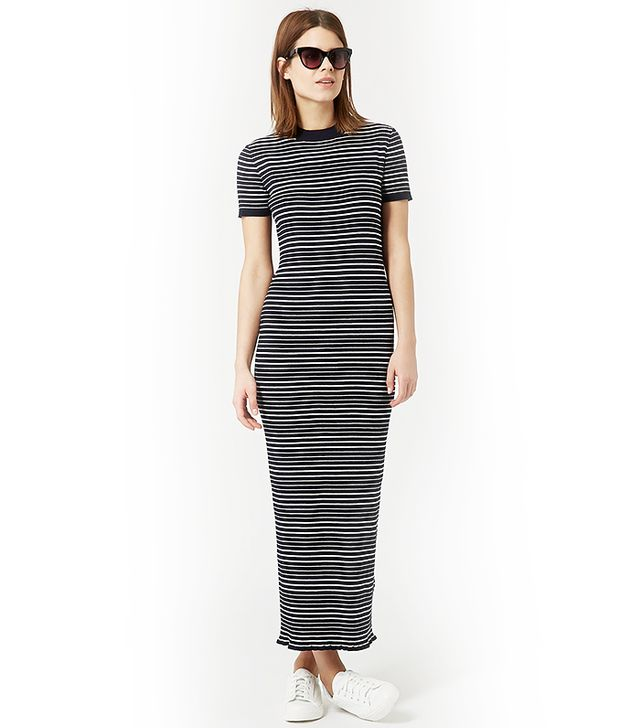 Topshop Knitted Stripe Maxi Dress