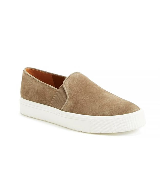 Vince Berlin 6 Slip-on Suede Sneaker in Flint