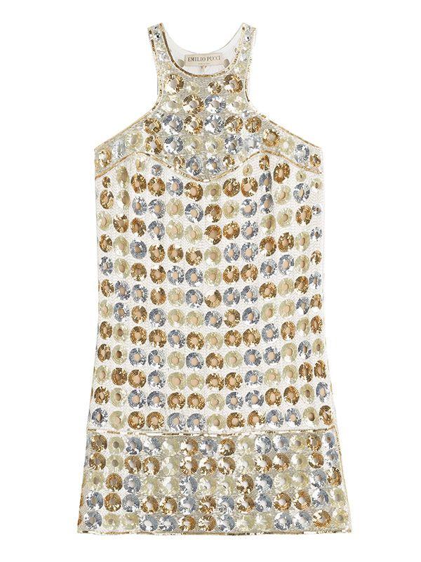 Emilio Pucci Embroidered Silk Cady Dress