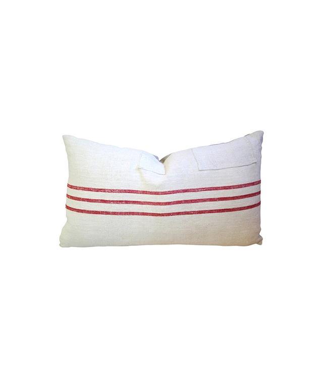 Vintage French Grain Sack & Linen Pillows