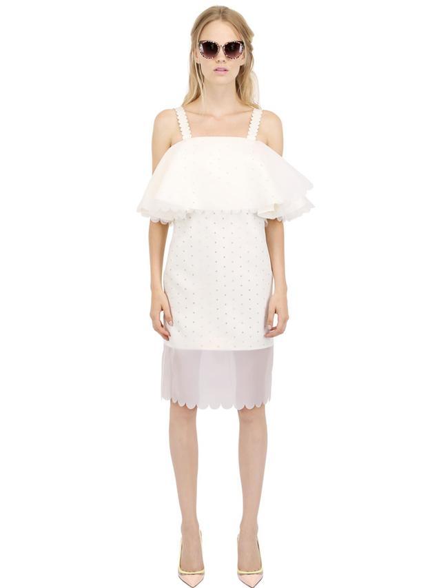 Paskal Double Layer Laser-Cut Dress