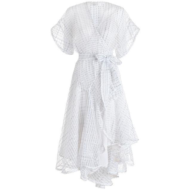 Zimmermann Seer Floss Wrap Dress