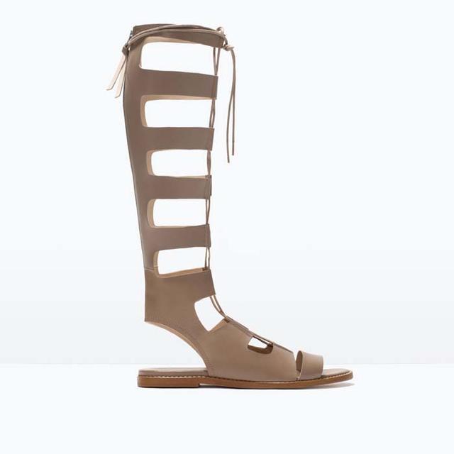 Zara Leather Roman Sandals