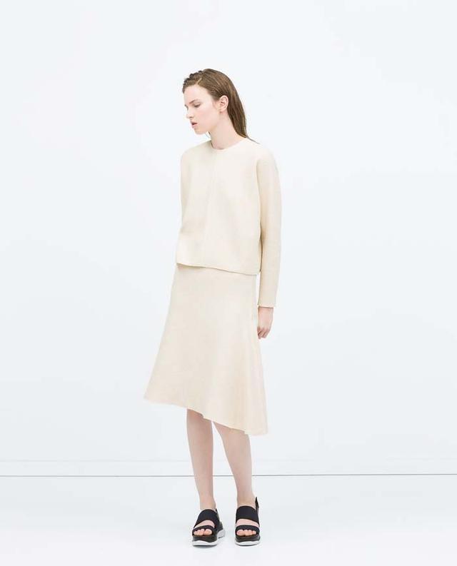 Zara Structured Knit Skirt