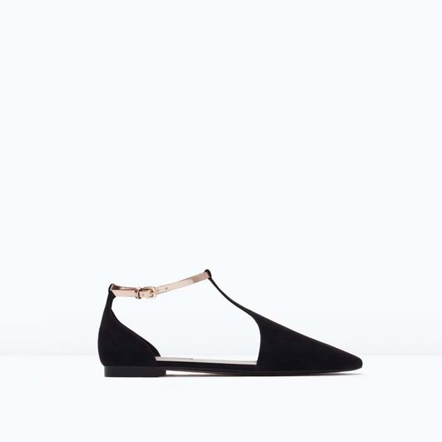 Zara Ankle-Strap Flats