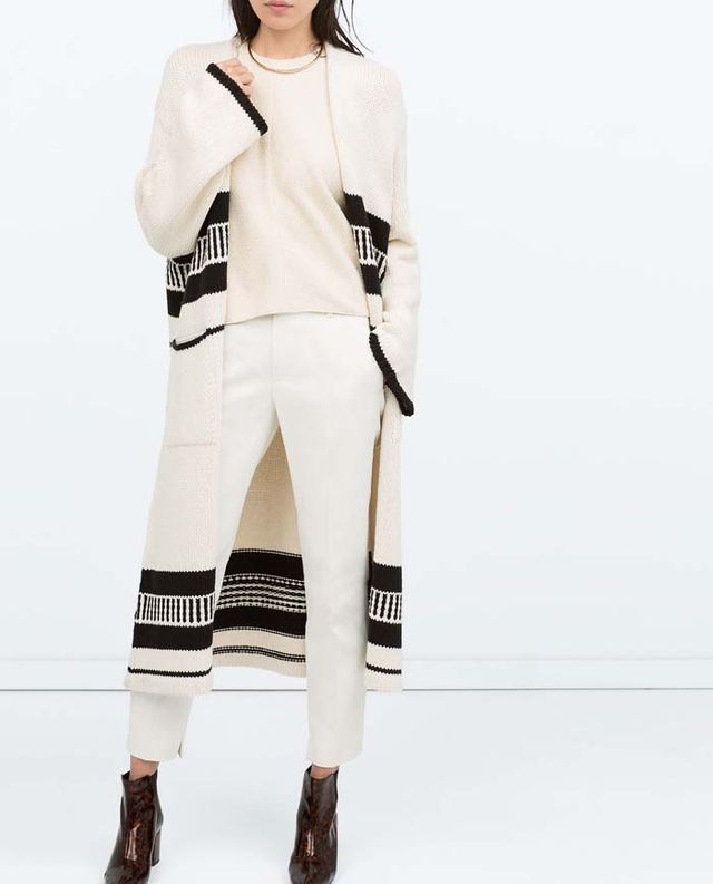 Zara Knitwear Coat
