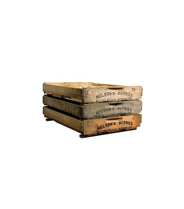 Chairish Vintage Wooden Berry Crates