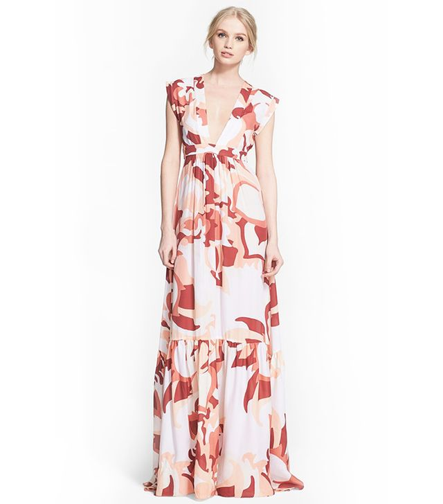 Rachel Zoe Pammy Print Silk Maxi Dress