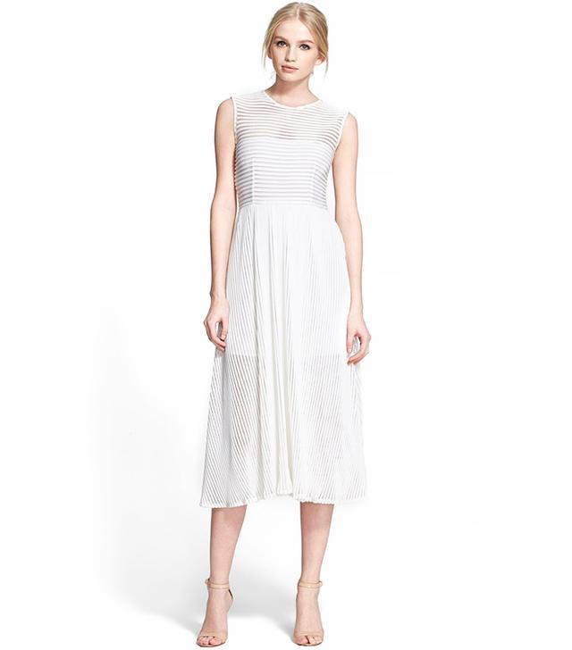 Rachel Zoe Ari Stripe Fit & Flare Dress