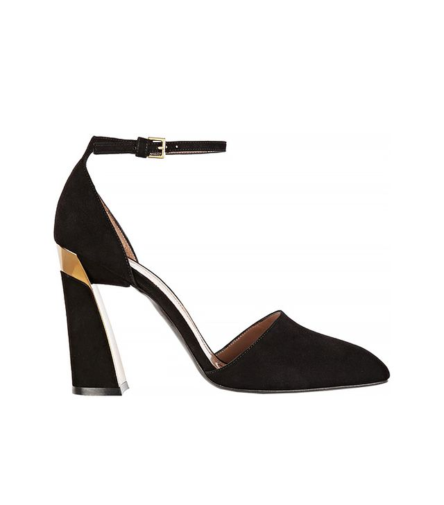 Marni Metal-Trimmed Suede Mary Jane Pumps