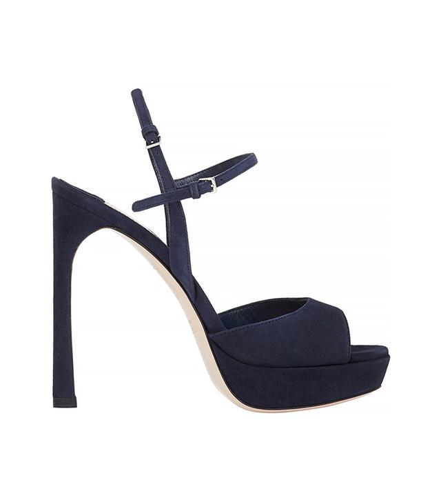 Miu Miu Suede Double Ankle-Strap Sandals