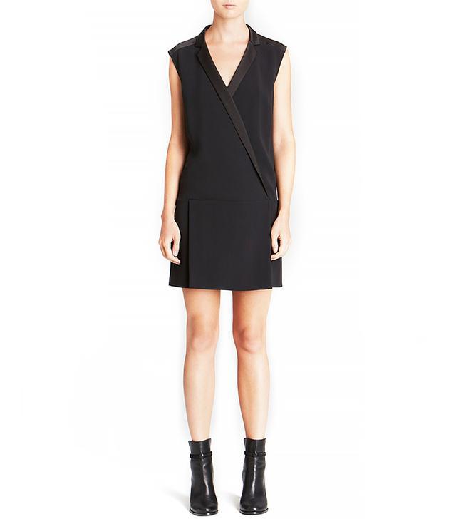 Rachel Zoe Kendra Satin Back Crepe Shift Dress