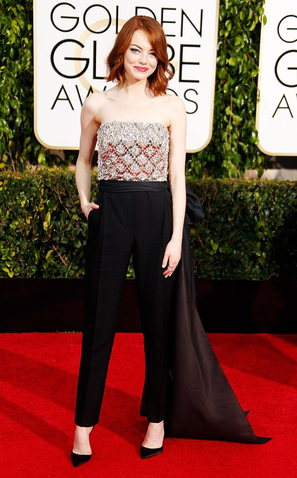That time she looked gorgeous and sophisticated in pants at the Golden Globes: