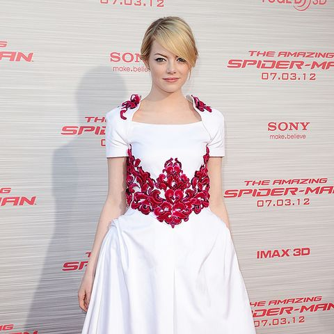 Emma Stone amazing spider man la premiere red carpet