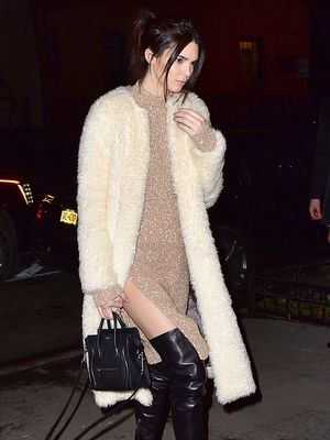 Kendall Jenner Shows Off Some Serious Leg in Leather Boots