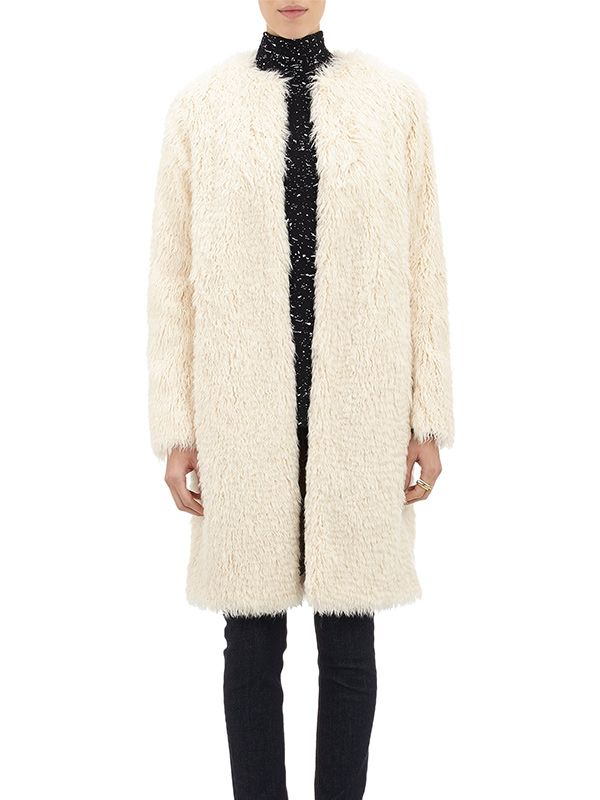 Ashley B Long Faux Fur Coat