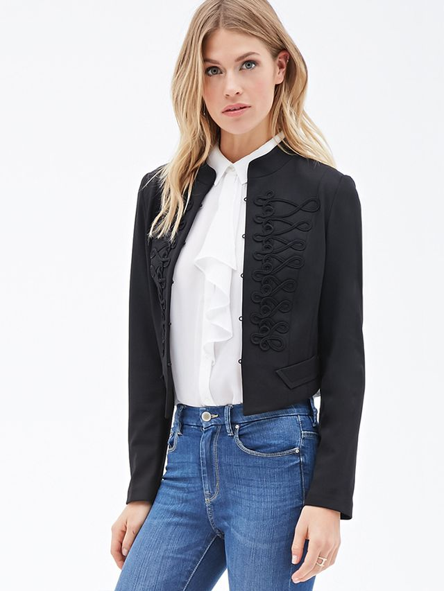 Forever 21 Embellished Band Jacket