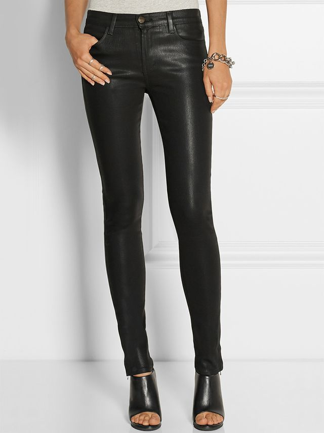 J Brand 8032 Stocking Ryan Coated Skinny Jeans