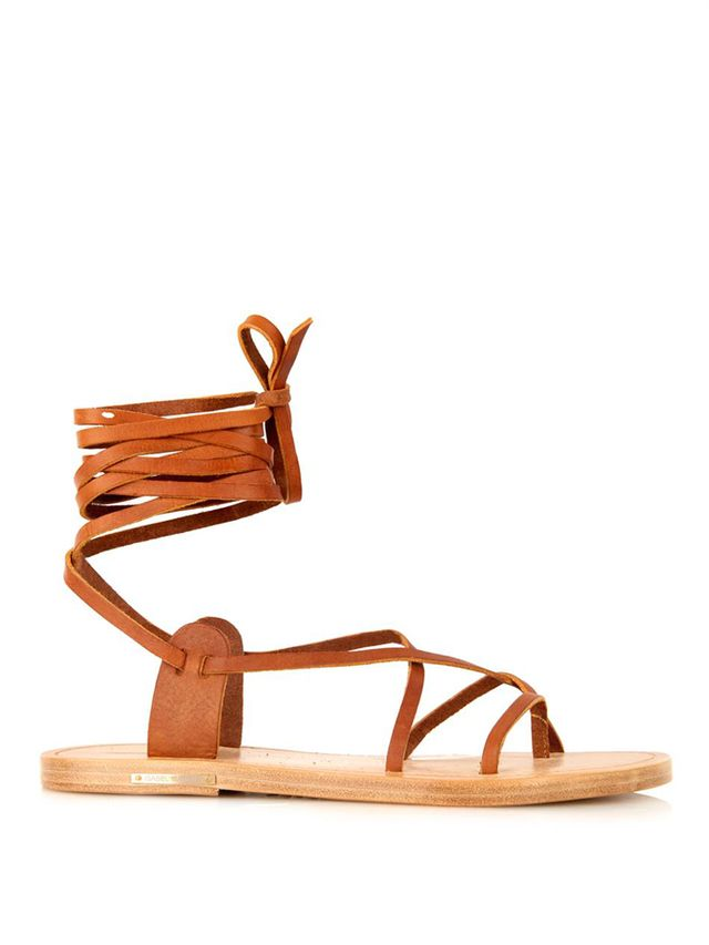 Isabel Marant Étoile Army Wrap-Around Leather Sandals