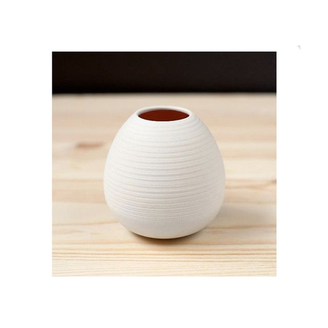 Pigeon Toe Ceramics Ribbed Bud Vase