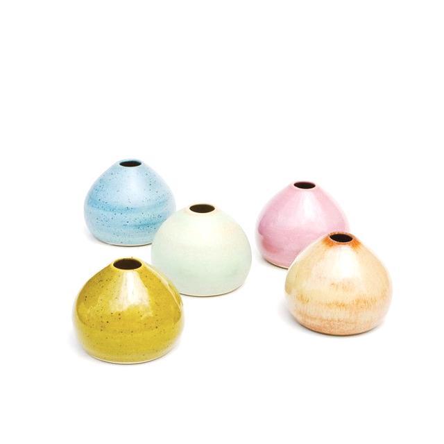Leif Ceramic Pebble Bud Vase