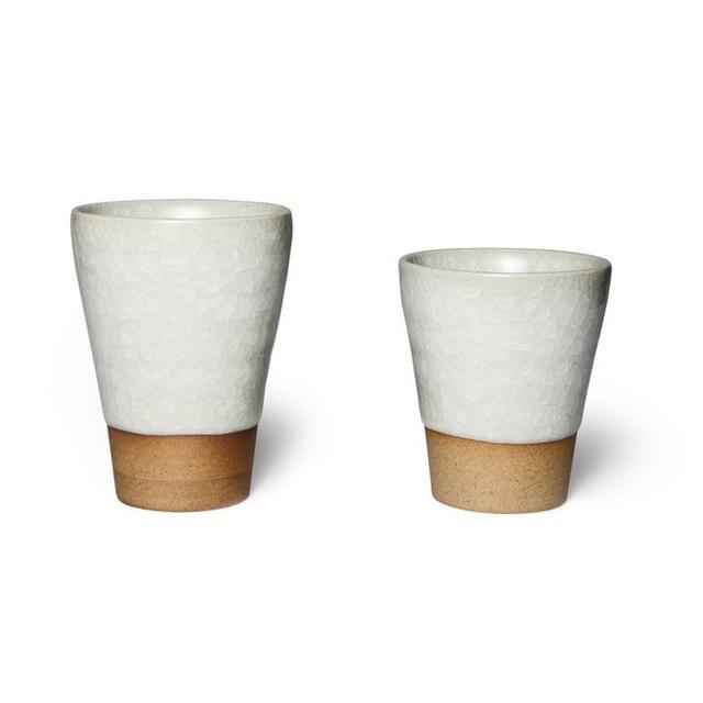 Kaufmann-Mercantile Japanese Ceramic Crackle Glaze Tea Cups
