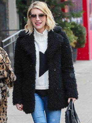 Cool and Cosy: Emma Roberts Braves the NYC Snow in Winter Must-Haves