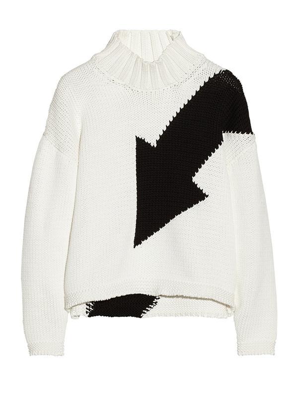 McQ by Alexander McQueen Arrow-Intarsia Cotton-Blend Turtleneck