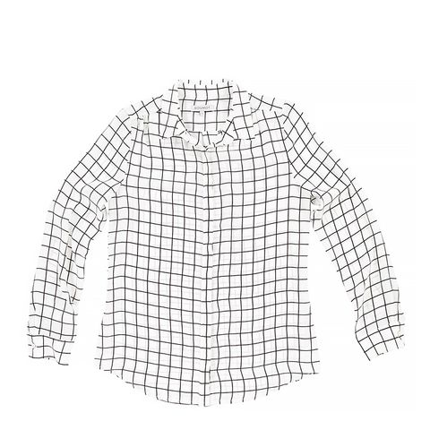 Gemma Blouse in Windowpane Print