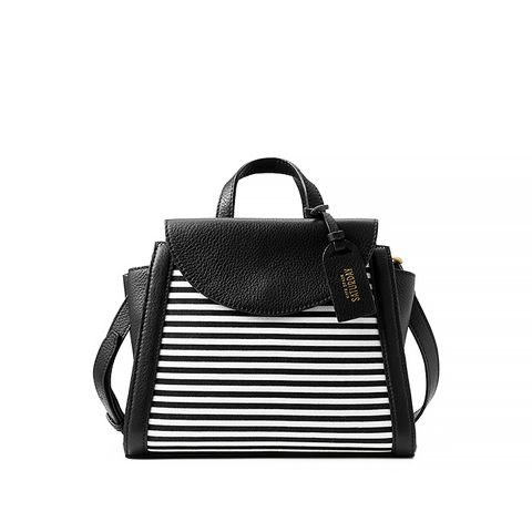 Mini A Satchel in Crosswalk Stripe