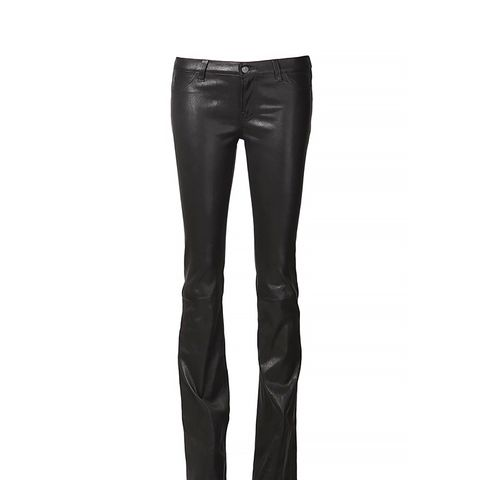Flared Leather Trouser