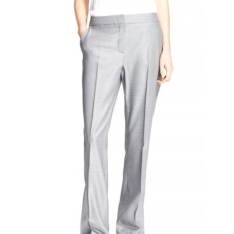 'Alessia' Straight Leg Wool & Silk Pants