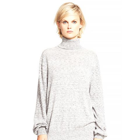 'Pristellee' Space Dye Cashmere Turtleneck Sweater