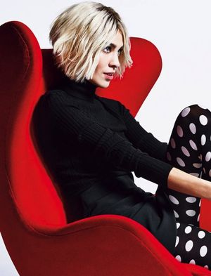 Alexa Chung Goes Bleach Blonde For Harper's Bazaar