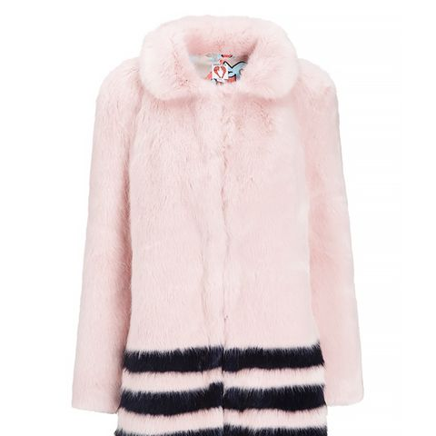 Pink Faux Fur Dulcie Coat