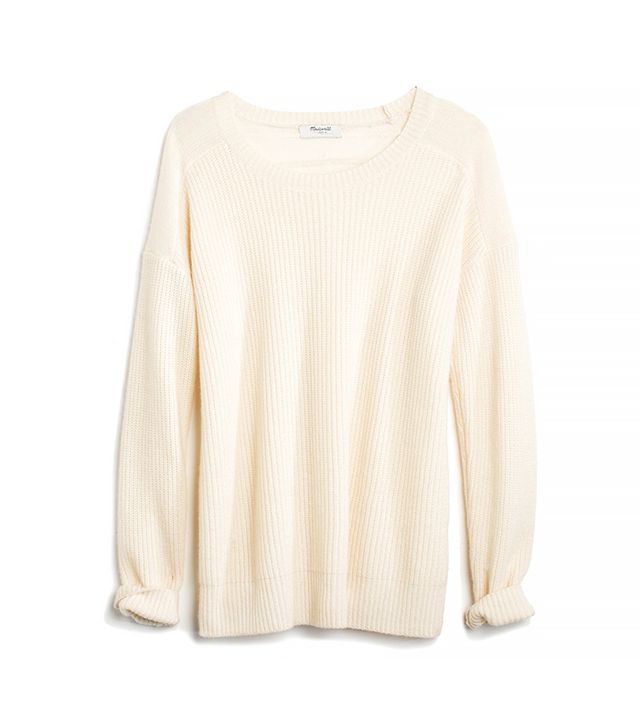 Madewell Cashmere Allday Pullover Sweater in Ivory