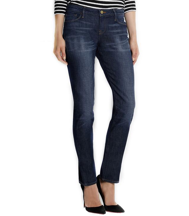 Frame Denim Inez Mid-Rise Straight-Leg Jeans
